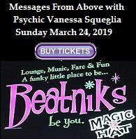 VIPcontacts.com Presents Beatnik's Psychic Show - Messages From Above with Psychic Medium Vanessa Squeglia