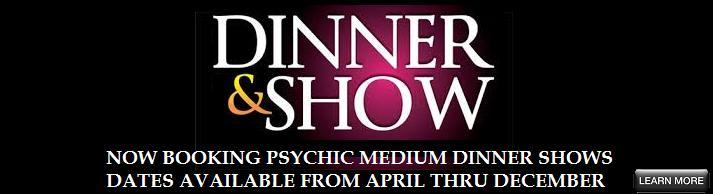 VIPcontacts.com Presents Dinner shows with Messages from Above with Psychic Medium Vanessa Squeglia