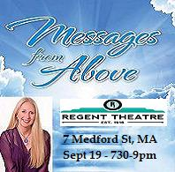 VIPcontacts.com Presents Messages From Above with Psychic Medium Vanessa Lynn Squeglia at Regent Theatre - Arlington, MA - Sept 19 2019