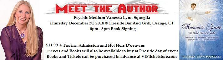 VIPcontacts.com Presents Medium Psychic Vanessa Lynn Book Signing for Fireside Bar and Grill