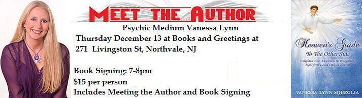 VIPcontacts.com Presents Medium Psychic Vanessa Lynn Book Signing for Books and Greetings