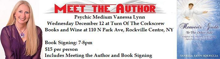 VIPcontacts.com Presents Medium Psychic Vanessa Lynn Book Signing for Turn Of The CorkScrew Books and Wine