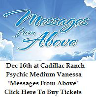 VIPcontacts.com Presents Messages From Above with Psychic Medium Vanessa Squeglia