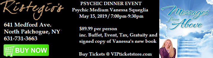 VIPcontacts.com Presents Ristegios Psychic Dinner Event - May 15 2019
